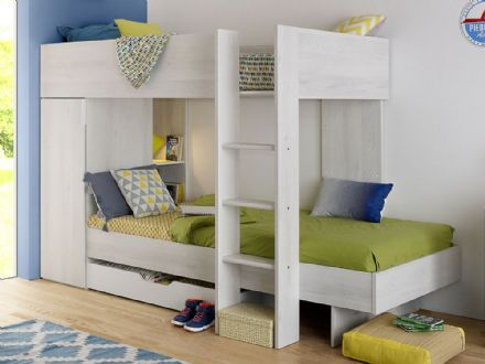 Junior Brooklyn Bunk Bed in Cherry White